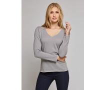 Pullover Feinstrick V-Ausschnitt grau - Selected! Premium