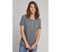 Schiesser Shirt kurzarm mit Knopfleiste anthrazit - Selected! Premium für Damen