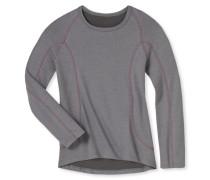 Shirt langarm Funktionswäsche warm grau-pink - Girls Thermo Light