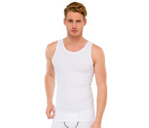 Tank Top Doppelripp weiß - uncover