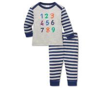 Babyanzug lang Jersey 2-teilig naturmelange-blau - Otto lernt Rechnen