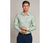 Schiesser Hemd langarm Kent-Kragen hellgrün - SLIM FIT für Herren