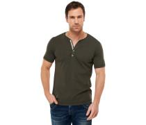 Shirt mit Knopfleiste oliv - Selected! Premium