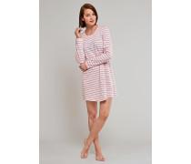 Sleepshirt rosé geringelt - someday in winter