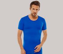 Shirt kurzarm blau - Seamless Active für Herren