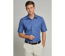 Oberhemd KENT-Kragen kurzarm blau REGULAR FIT