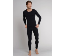 Shirt langarm schwarz - Seamless Active für Herren