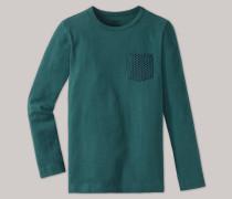 Schiesser Shirt langarm Heavy Jersey peached Brusttasche blaugrün - Mix & Relax für Jungen,Schiesser Shirt langarm Heavy Jersey peached Brusttasche blaugrün -ix & Relax für Jungen