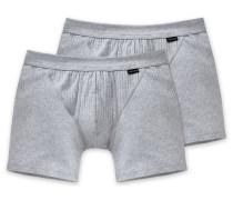Shorts mit Eingriff 2er-Pack  meliert