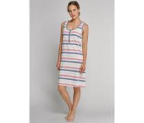 Schiesser Sleepshirt ärmellos mehrfarbig geringelt - Venice Beach für Damen