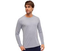 Shirt langarm Rundhals grau-melange - Mix & Relax