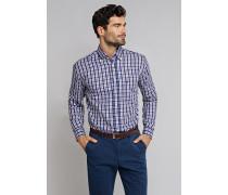 Hemd langarm Button-Down-Kragen mehrfarbig kariert - COMFORT FIT