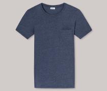 Schiesser Shirt kurzarm indigo geringelt - Revival Fred für Herren