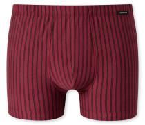 Shorts bordeaux gestreift