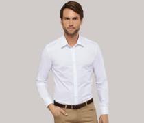 Schiesser weißes, tailliertes Businesshemd mit Kentkragen für Herren