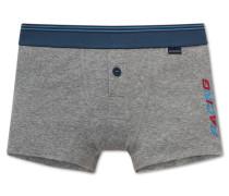 Retro-Shorts grau meliert - Live & drive fast
