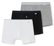 Shorts 3er-Pack mehrfarbig