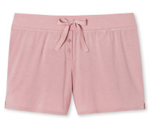 Shorts Modal-Jersey Stern-Knöpfe rosé - Mix & Relax Lounge