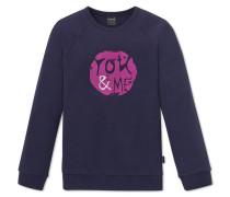 Shirt langarm Interlock mit Bündchen nachtblau bedruckt - Mix & Relax