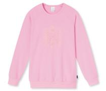 Shirt langarm Raglan-Schnitt rosé bedruckt - Mix & Relax