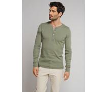 Shirt Langarm mit Knopfleiste oliv - Selected! Premium