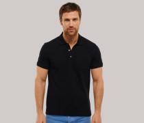 Poloshirt Piquee kurzarm schwarz für Herren