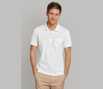 Poloshirt kurzarm Piquee weiß - Selected! Premium für Herren,Poloshirt kurzarm Piquee weiß -elected! Premium für Herren