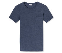 Shirt kurzarm indigo geringelt - Revival Fred
