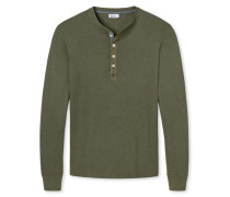 Shirt langarm khaki meliert - Revival Karl-Heinz
