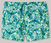 Swimshorts Webware blaugrün bedruckt - Aqua Isla Island