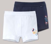 Schiesser Hip Shorts dunkelblau/ weiß bedruckt - Longboard Henry für Jungen