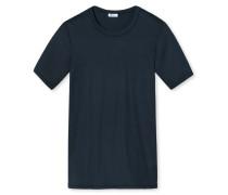 T-Shirt Doppelripp dunkelblau - Revival Heinrich