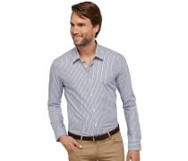 gestreiftes Oberhemd in Slim-Fit-Schnittform