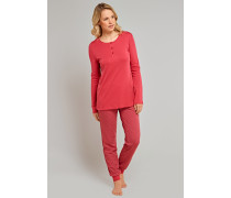 Schlafanzug lang Interlock rot - red berries & sandalwood