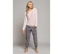Shirt langarm rosé bedruckt - Mix & Relax