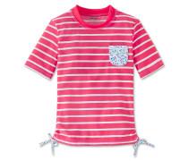 Badeshirt LSF 40+ rosé geringelt - Aqua Hearts & Stripes