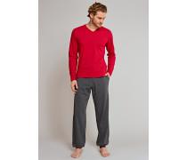 Shirt langarm Jersey V-Ausschnitt - Uncover