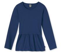 Shirt langarm Jersey Schößchen-Schnitt blau - Mix & Relax