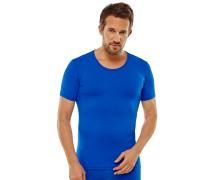 Shirt kurzarm blau - Seamless Active