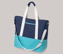 Strandtasche Webware mehrfarbig - Aqua für Damen