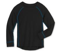 Shirt langarm Funktionswäsche extra warm schwarz - Kids Thermo Plus