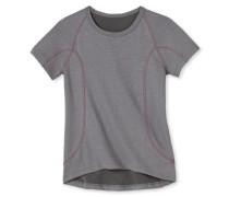 Shirt kurzarm Funktionswäsche warm grau-pink - Girls Thermo Light