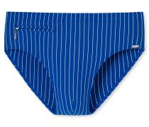 Schiesser Bade-Sir mit Reißverschlusstasche Wirkware recycelt Streifen royal