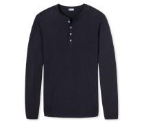 Shirt langarm Feinstrick mit Kaschmir-Touch navy- Revival Karl-Heinz