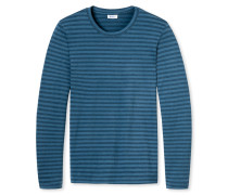 Shirt langarm blau gestreift - Revival Franz