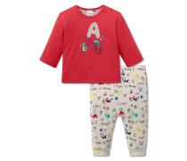 Babyanzug 2-teilig Jersey mehrfarbig - Lotte lernt Lesen