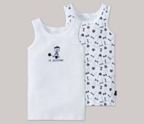 Schiesser Unterhemden 2er-Pack weiß - Zirkus Strong Boy für Jungen
