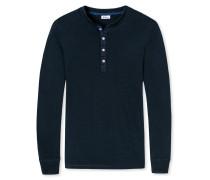 Shirt langarm nachtblau meliert - Revival Karl-Heinz