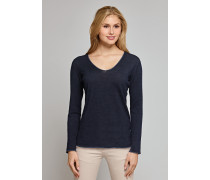 Pullover Feinstrick V-Ausschnitt navy - Selected! Premium