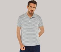 Poloshirt Piquee grau-melange geringelt - Selected! Premium für Herren,Poloshirt Piquee grau-melange geringelt -elected! Premium für Herren